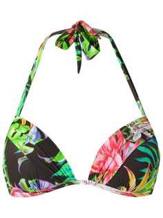 printed triangle bikini top Blue Man