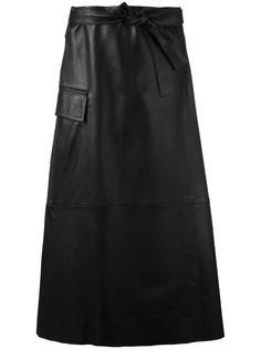 юбка с накладным карманом Helmut Lang