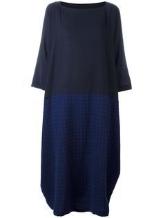 асимметричное платье в клетку Daniela Gregis