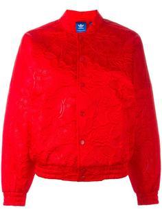 куртка-бомбер с цветочным принтом Adidas Originals