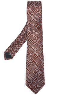 галстук с узором шеврон Lanvin