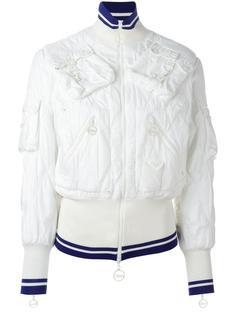 дутая куртка с накладными карманами Christian Dior Vintage