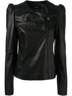 кожаная куртка с структурированными плечами Isabel Marant