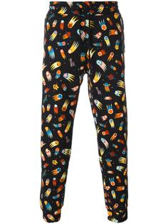 спортивные штаны с рисунком Love Moschino