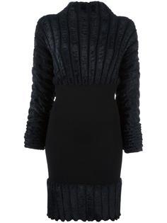 приталенное платье в рубчик Alaïa Vintage
