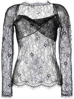 блузка с цветочным кружевом Romeo Gigli Vintage