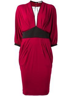 платье со складками Emanuel Ungaro