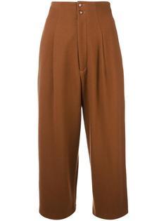 укороченные плиссированные брюки Yohji Yamamoto Vintage