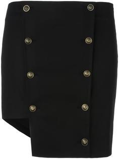 асимметричная юбка с пуговицами Versus
