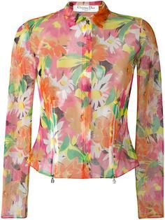 прозрачный пиджак с цветочным принтом Christian Dior Vintage