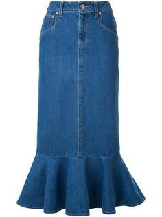 джинсовая юбка с оборками DressCamp