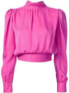жаккардовая блузка Yves Saint Laurent Vintage