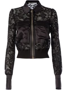 укороченная кружевная куртка Givenchy