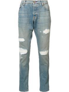 джинсы с заплатками En Noir