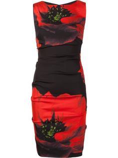 облегающее платье с цветочным принтом Nicole Miller