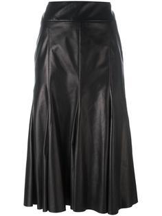 кожаная юбка средней длины Drome