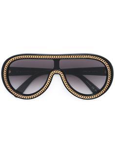 солнцезащитные очки-авиаторы с отделкой 'Falabella' Stella McCartney