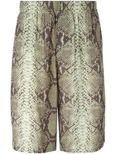 шорты с принтом змеиной кожи Jean Paul Gaultier Vintage