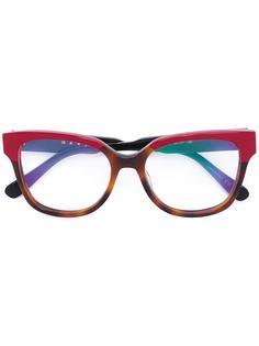 очки в оправе в стиле колор-блок Marni