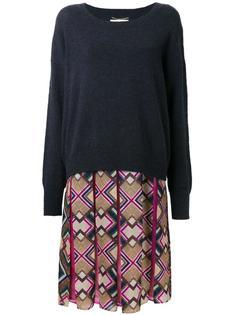 платье с юбкой в складку с узором Muveil