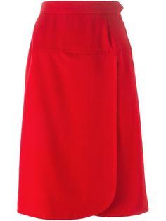 юбка с запахом спереди Yves Saint Laurent Vintage