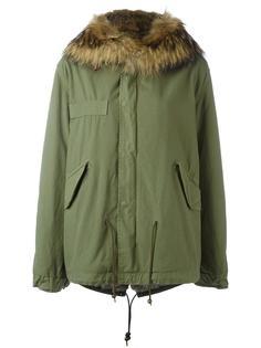 куртка с отделкой из меха енота и кролика Mr & Mrs Italy