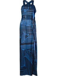 длинное платье с абстрактным принтом Fernanda Yamamoto