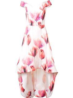 платье с принтом тюльпанов Christian Siriano
