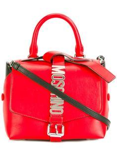 сумка с бляшкой-логотипом Moschino