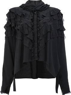 блузка с длинными рукавами и рюшами Faith Connexion