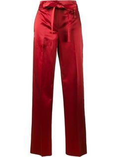 атласные брюки-палаццо Helmut Lang