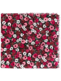 большой шарф 'Fleurs' Saint Laurent
