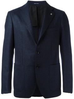 slim fine checked blazer Lardini