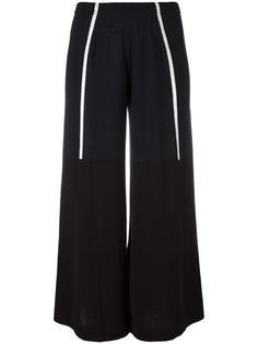 укороченные брюки с контрастной отделкой Circus Hotel