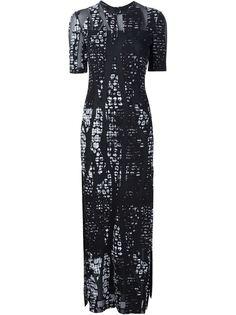 длинное платье с разрезами по бокам Yigal Azrouel