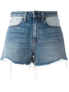 джинсовые шорты с рваными деталями Alexander Wang
