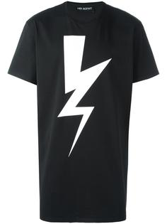 футболка с принтом молнии Neil Barrett