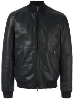 кожаная куртка на молнии Armani Jeans