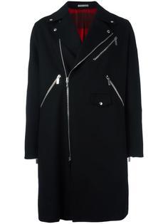 пальто в байкерском стиле Dior Homme