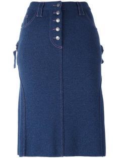 юбка А-силуэта до колена Christian Dior Vintage