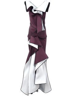 вечернее асимметричное платье с оборками Maticevski