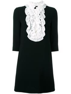 платье с манишкой с оборками Boutique Moschino