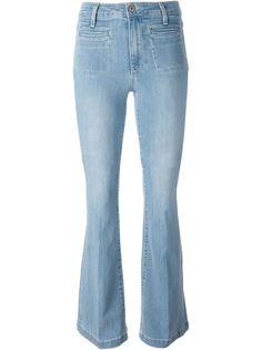 расклешенные джинсы буткат Paige