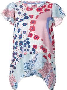 расклешенная блузка с оборками на рукавах Tsumori Chisato