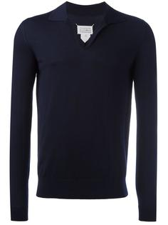 трикотажная футболка-поло Maison Margiela