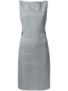 приталенное платье в клетку Gareth Pugh