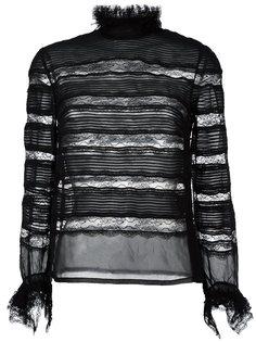кружевная блузка с прозрачными панелями Isabel Marant