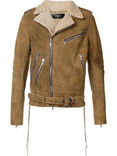 байкерская куртка из овчины Amiri