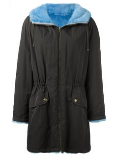 пальто на молнии с капюшоном Army Yves Salomon