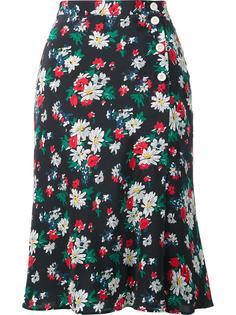 floral print envelope skirt Ines De La Fressange